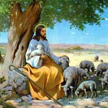 Jesus with the Sheep, by Albo