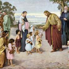 Christ Blessing the Little Children by Alois Lahoda