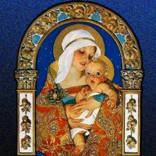 Christmas Nativity images by Joseph Christian Leyendecker