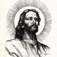 Image of the Head of Christ by Signe E Larson